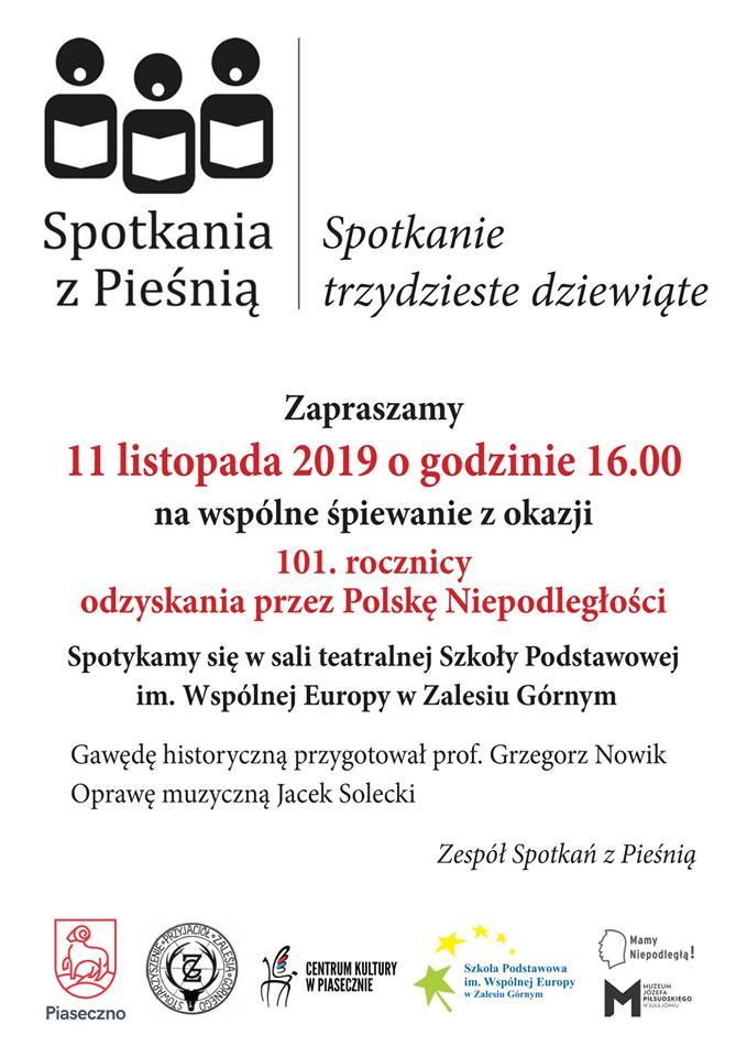 Spotkanie z Pieśnią z okazji Święta Niepodległości w Zalesiu Górnym