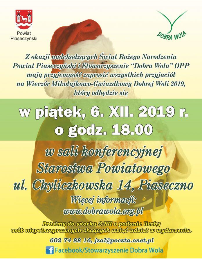Wieczór Mikołajkowo-Gwiazdkowy Dobrej Woli 2019