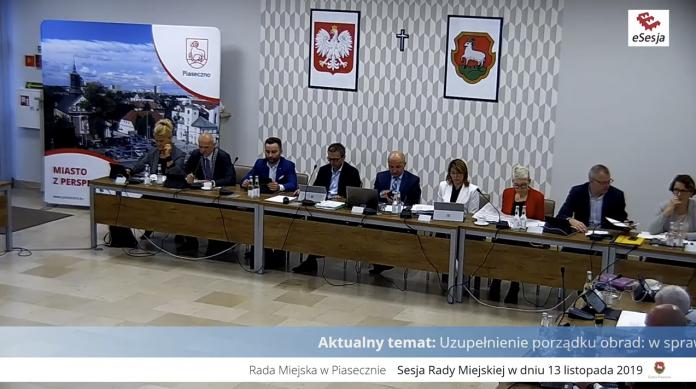 XVIsesja Rady Miejskiej w Piasecznie