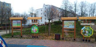 Tablice edukacyjne przy ul. Aleja Róż - foro Violetta Kucharska