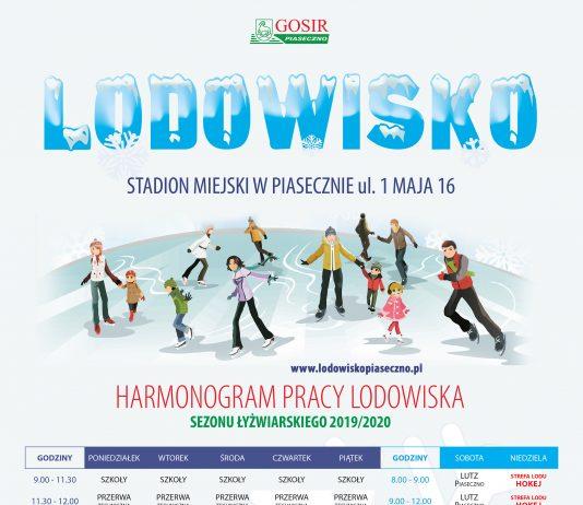 Harmonogram pracy lodowiska w Piasecznie 2019/2020