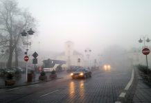 Mgła ulica Kościuszki - Ratusz w Piasecznie
