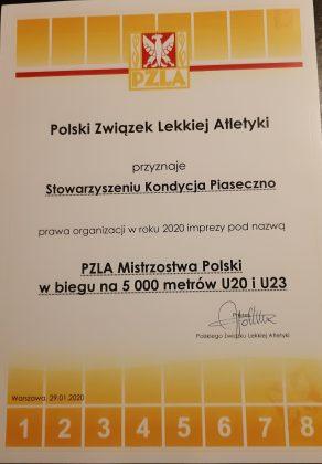 organizacja mistrzostw polski w Piasecznie
