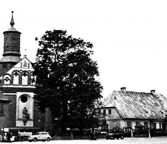 Kościół i plebania w latach 50./60. XX wieku