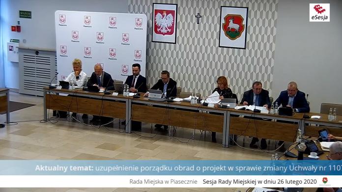 20. sesja Rady Miejskiej w Piasecznie
