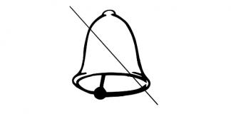 Dzwonek - przekreślony dzwonek