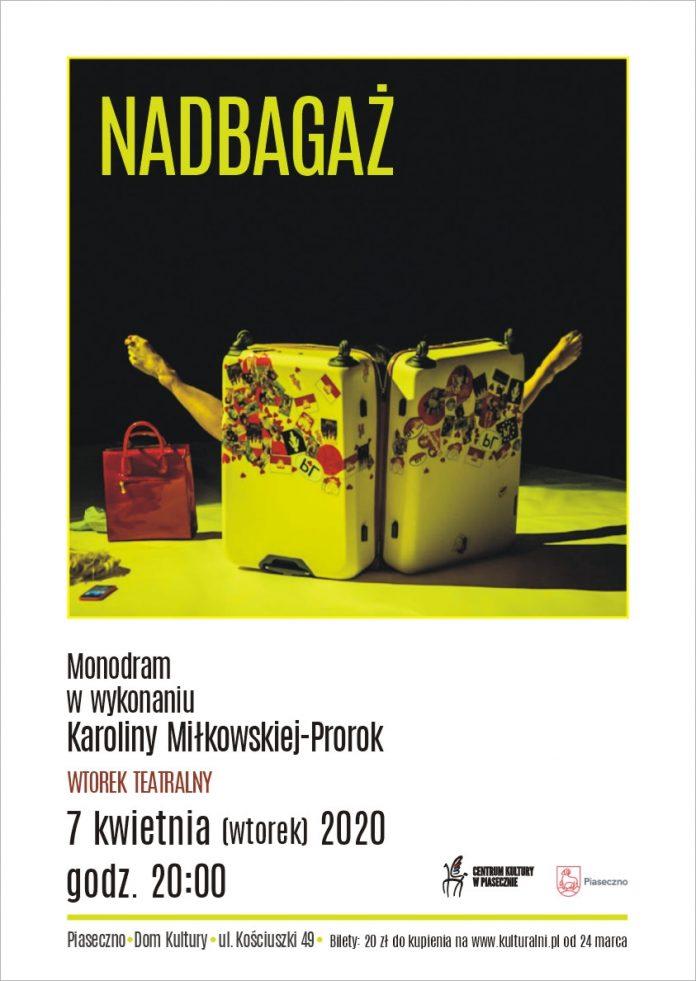Nadbagaż monodram w wykonaniu Karoliny Miłkowskiej-Prorok - Wtorek Teatralny