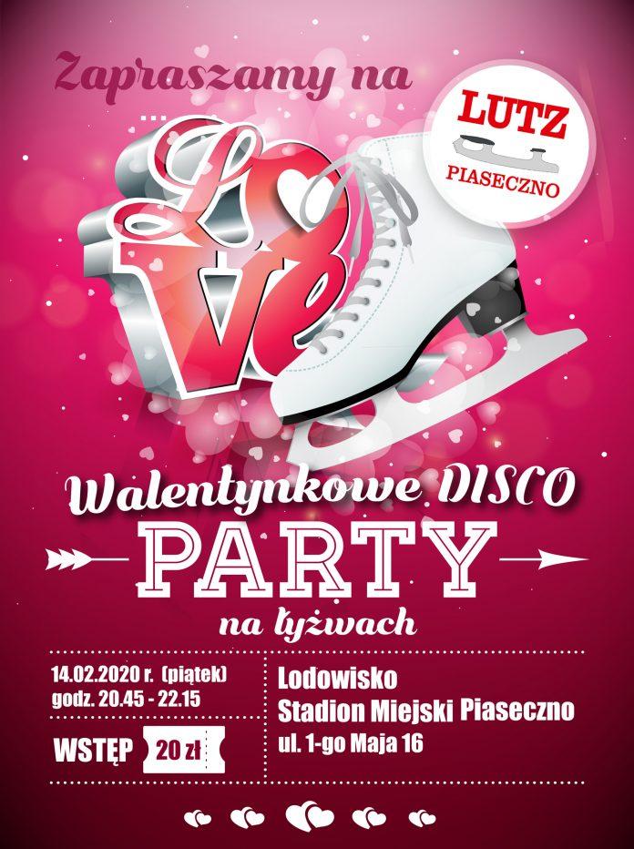 Walentynkowa dyskoteka na łyżwach w Piasecznie