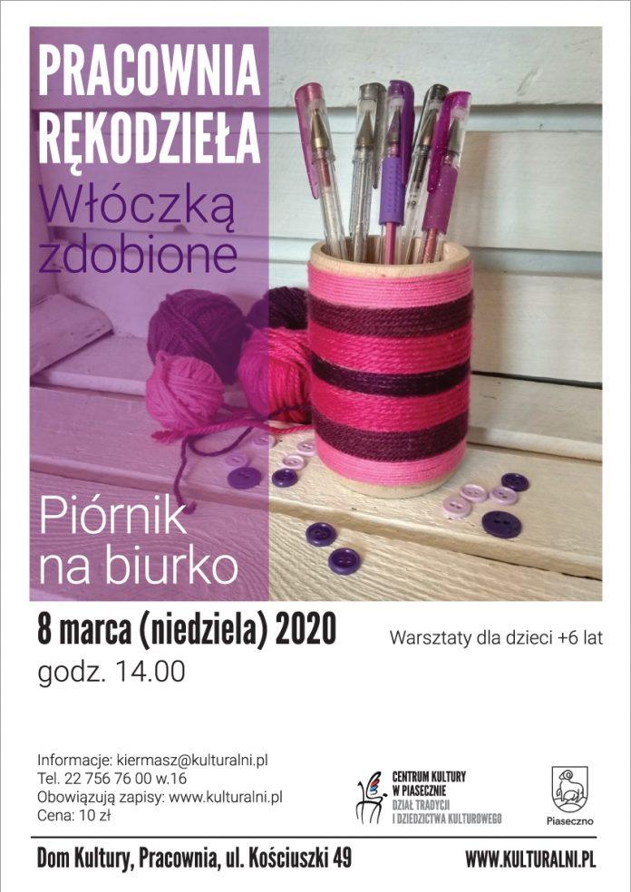 Włóczką zdobione. Piórnik na biurko – Pracownia Rękodzieła w Domu Kultury w Piasecznie