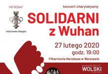 Solidarni z Wuhan plakat
