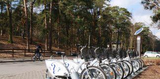 stacja rowerowa przy Górkach Szymona