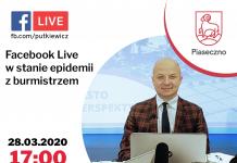 Facebook Live z Burmistrzem 28 marca 2020 roku o godz. 17.00