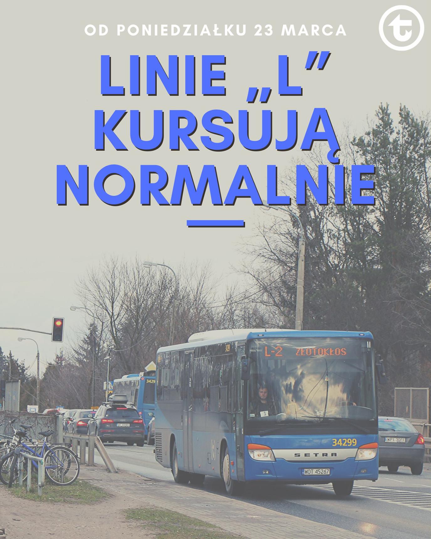 rozkłady jazdy linii L i P na razie pozostają bez zmian