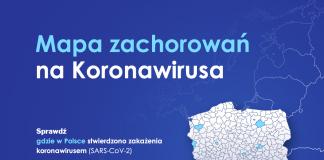 Mapa zarażeń koronawirusem w Polsce SARS-CoV-2