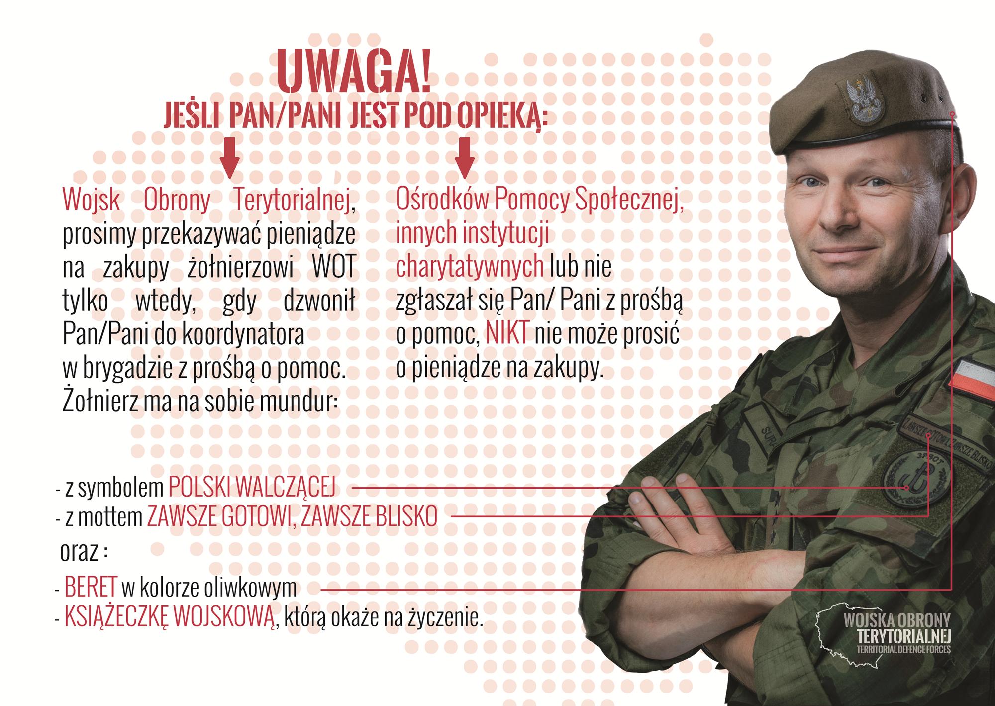 Nie daj się oszukać, na żołnierza Wojsk Obrony Terytorialnej
