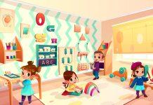 Przedszkole, dzieci - grafika zaprojektowana przez vectorpouch / Freepik