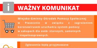 Zakupy dla seniorów oraz wsparcie psychologiczne - infolinia MGOPS Piaseczno