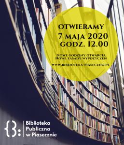 7 maja otwarcie Biblioteki Publicznej w Piasecznie