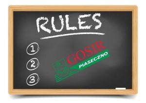 INFORMACJA: zasady korzystania z obiektów od 04 maja br.