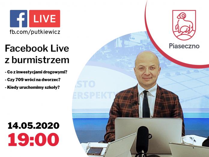 Live z burmistrzem Piaseczna
