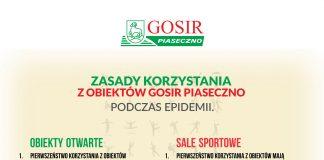 Nowe zasady korzystania z obiektów GOSiR Piaseczno od 18 maja 2020 r.