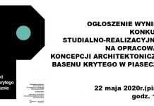 Ogłoszenie wyników konkursu na opracowanie koncepcji architektonicznej basenu krytego w Piasecznie