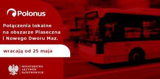 Polonus przywraca lokalne połączenia od 25 maja