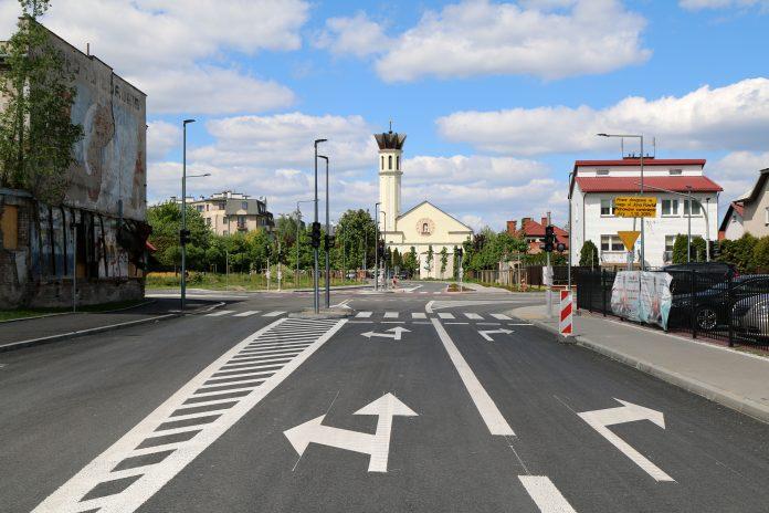 Wyremontowane skrzyżowanie ulic Dworcowej, Jana Pawła II i Jarząbka w Piasecznie