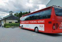 Zbiórka krwi przy Krzyżu Papieskim w Piasecznie - Mobilny Punkt Poboru Krwi