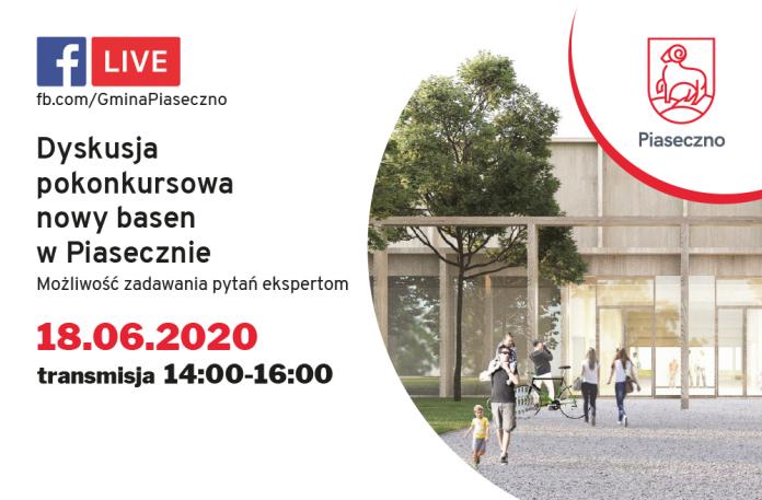 dyskusja on line o konkursie na projekt nowego basenu w Piasecznie