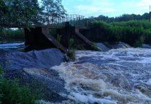 Wysoka woda na rzece Zielonej, fot. Małgorzata Idaczek