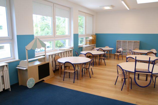 sala lekcyjna w wyremontowanej szkole