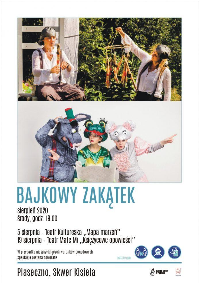 Bajkowy Zakątek na skwerze Kisiela w Piasecznie - sierpień 2020