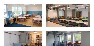 kolaż zdjęć- szkoła po remoncie