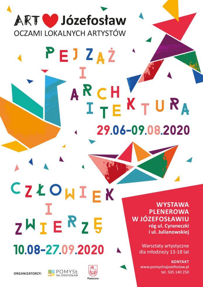 wystawa art love Józefosław plakat