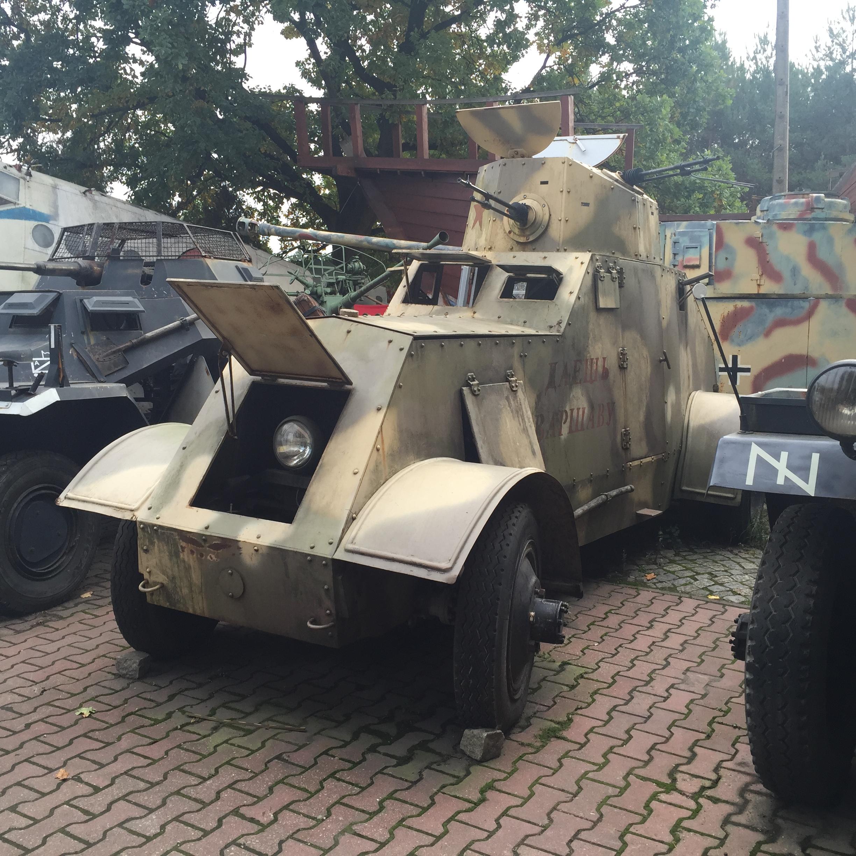 Replika samochodu pancernego wz. 29 - Muzeum Motoryzacji i Techniki Otrębusy