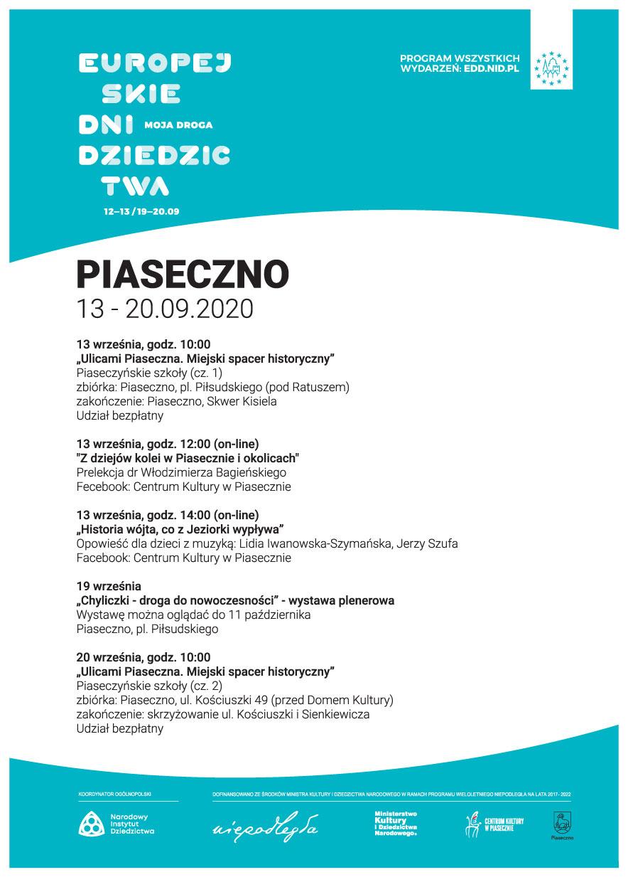 28. EDD Europejskie Dni Dziedzictwa – Moja Droga Piaseczno