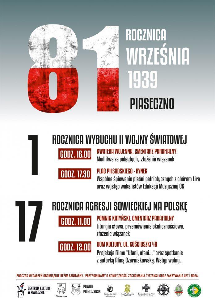 Wrześniowe uroczystości patriotyczne w Piasecznie - 81. rocznica Września 1939