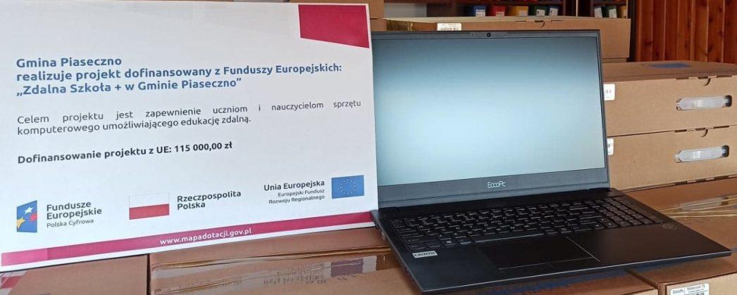 Laptopy w ramach Zdalnej Szkoły + w Gminie Piaseczno