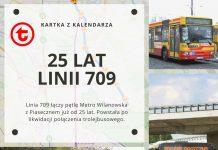 25 lat od utworzenia linii 709