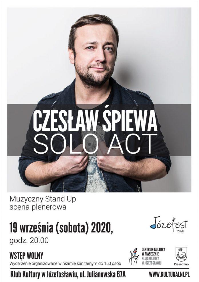 Plakat Czesław Śpiewa Solo Act / Muzyczny Stand Up – Józefest 2020