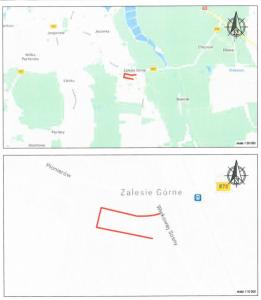 obrazek pokazujący na mapie obszar ,którym objęta będzie nowa organizacja ruchu