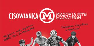 Plakat Piaseczno Cisowianka Mazovia MTB Marathon 2020. Informacje znajdujące się na grafice są podane w treści wpisu.