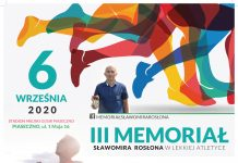 Zapraszamy na III Memoriał Sławomira Rosłona w lekkiej atletyce na Stadion Miejski w Piasecznie w 06.09.2020r.