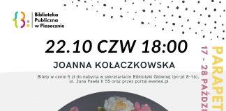 Parapetówka 2.0 – Spotkanie z Joanną Kołaczkowską