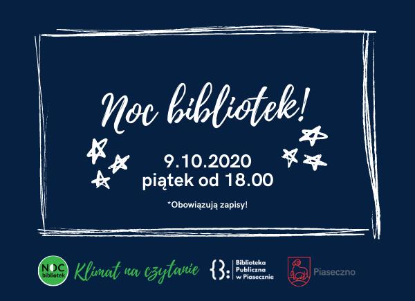 Noc Bibliotek Piaseczno 09.10.2020 Klimat na czytanie