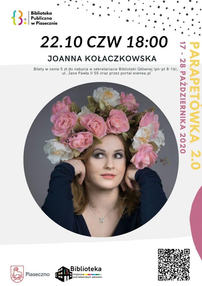 Ilustracja. Spotkanie z Joanną Kołaczkowską w Bibliotece Głównej w Piasecznie