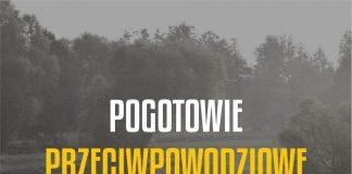 Ilustracja. Stan pogotowia przeciwpowodziowego na terenie gminy Piaseczno. Grafika: Starostwo Powiatowe w Piasecznie.