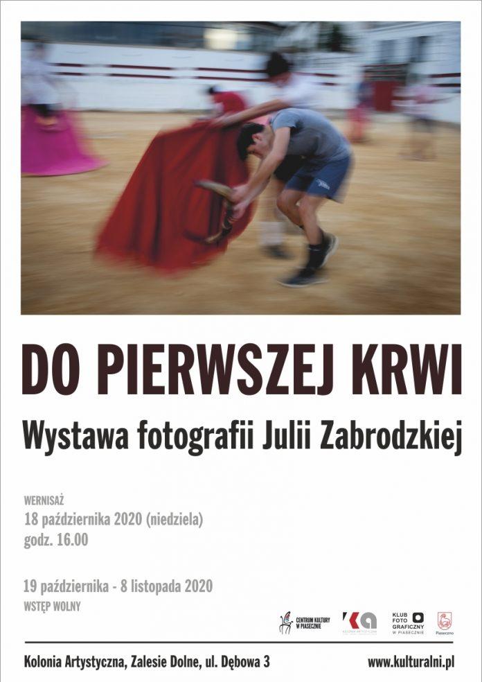 Plakat wydarzenia Do pierwszej krwi - wystawa fotografii Julii Zabrodzkiej