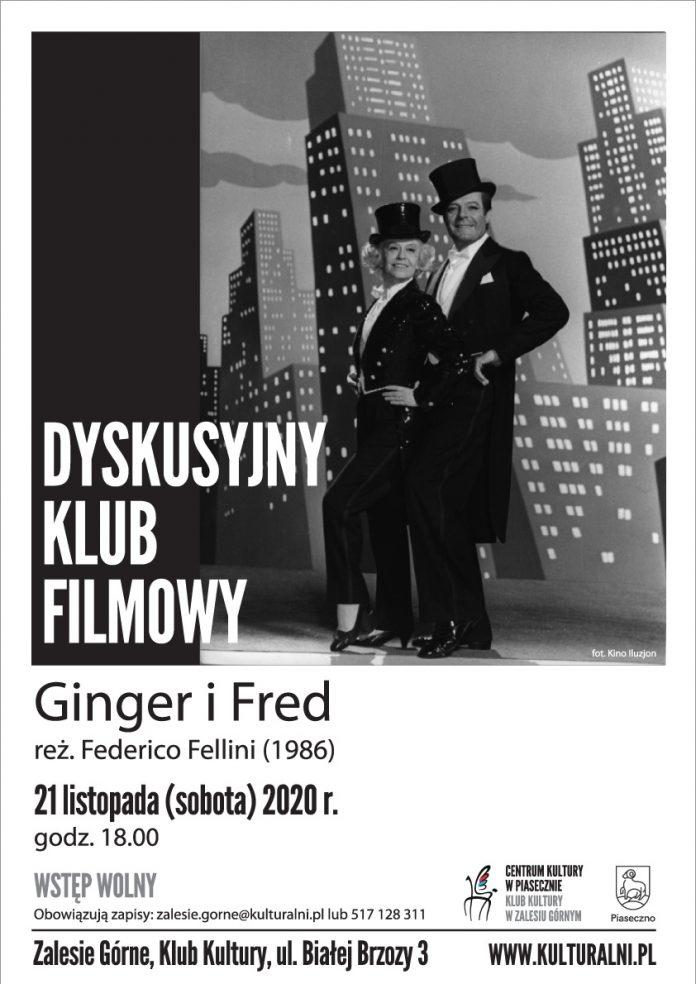 Plakat wydarzenia Ginger i Fred - Dyskusyjny Klub Dyskusyjny w Zalesiu Górnym